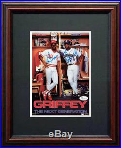 Ken Griffey Jr. & Ken Griffey Father and Son JSA Signed 7x10 Framed Photo Auto