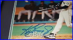 Ken Griffey Jr Signed Mariners Framed Autograph 8X10 Photo UDA Upper Deck COA