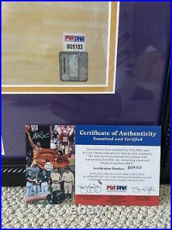 Kobe Bryant Autographed 16x20 Vintage PSA / DNA Photo Autograph Signed Framed