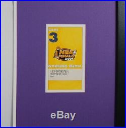 Kobe Bryant Custom Framed Jersey, Signed Photo & 2001 NBA Finals Media Pass! COA