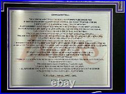 Kobe Bryant Dear Basketball Framed 3D Photo Collage Los Angeles Lakers Un Signed