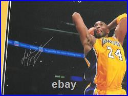 Kobe Bryant Framed And Autographed Signed 16x20 Photo Panini Hologram Authentic