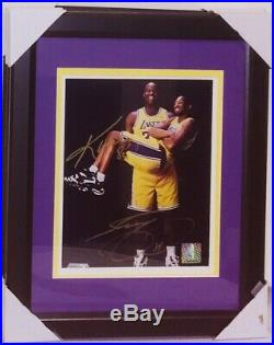 Kobe Bryant & Shaquille O'Neal Autographed 8 x 10 Framed Signed Photo with COA