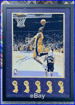 Kobe Bryant Signed 16x20 Jsa Auto Custom Framed LA Lakers