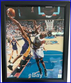 Kobe Bryant Signed 16x20 Photo Autographed PSA/DNA COA Los Angeles Lakers Framed