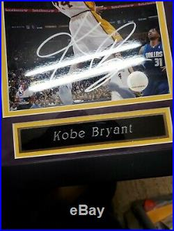 Kobe Bryant Signed 8x10 Autograph Framed With Coa