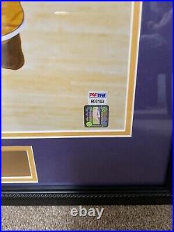 Kobe Bryant Signed Autographed 16x20 Framed Photograph- PSA/DNA Certification
