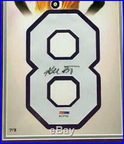 Kobe Bryant Signed Lakers #8 Jersey Number photo framed Auto PSA Coa /8 Limited