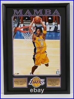 Kobe Bryant Signed & Newly Framed 16x20 Photo Autographed Mamba PSA/DNA COA