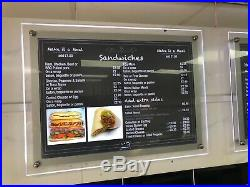LED Backlit Photo Picture Poster Wall Display Sign Holder Frame