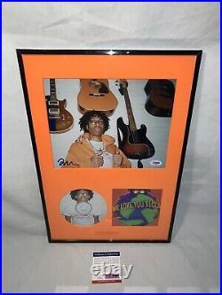 LIL TECCA WE LOVE YOU TECCA SIGNED FRAMED AUTOGRAPHED 8x10 PHOTO PSA/DNA COA 1/1