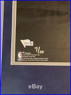 LUKA DONCIC signed auto Framed 16x20 Photo DALLAS MAVERICKS Fanatics COA #7/10