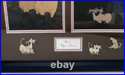 Lady And The Tramp Siamese Cats Peggy Lee Autographed Signed Frame 13x16 Disney