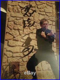 Large Masaaki Hatsumi Signed, Inscribed Framed Picture- Bujinkan Ninjutsu- RARE