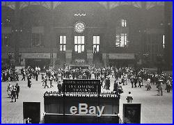 Large Photograph of PENN STATION NY, 1948, By American Photographer TONY VACCARO