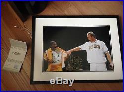 Larry Bird Magic Johnson UDA Upper Deck Signed Auto Autographed Photo Framed