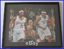 LeBron James & Carmelo Anthony signed autographed framed photo! Upper Deck UDA