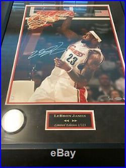 Lebron James Framed Signed 16x20 UDA Photo /123