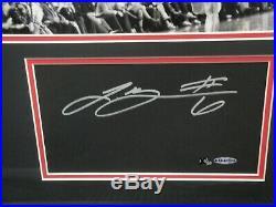 Lebron James Hand Signed Cut Custom Matte Framed with 16x20 Photo UDA xx/50