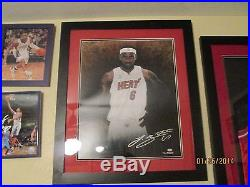 Lebron James Hand Signed & Framed 16x20 Photo Welcome To Miami 49/100 UDBAM02683