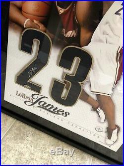 Lebron James UDA Upperdeck Signed Rookie Picture Framed