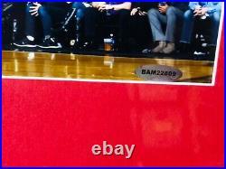 Lebron James signed FRAMED UDA Upper Deck 11x14 Miami Heat LA Lakers Cavaliers