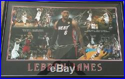 Lebron James signed road to glory framed print UDA authenticated