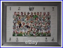 Legends of Celtic Park SIGNED FRAMED Huge Photo Autograph x22 Football AFTAL COA