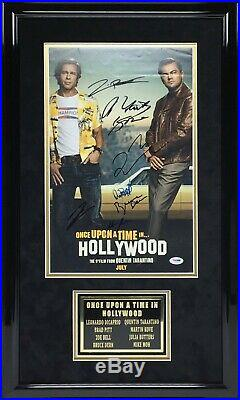 Leonardo Dicaprio Signed & Framed Once Upon A Time In Hollywood 11x17 Photo PSA