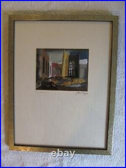 Limited Edition Coventry Cathedral Silkwork Picture Signed by John Piper