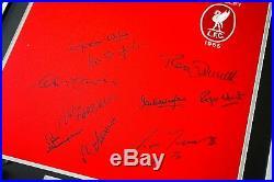 Liverpool FA Cup 1965 x10 Squad SIGNED FRAMED Shirt Photo Autograph AFTAL COA