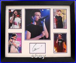 Louis Tomlinson Hand Signed Framed Display One Direction