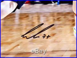 Luka Doncic Autographed Signed Framed 16x20 Photo Mavericks Fanatics Holo 162396