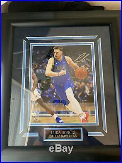 Luka Doncic Dallas Mavericks Signed Framed 16x20 WithFanatics Authentic COA