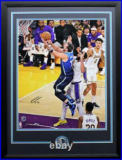 Luka Doncic Signed Autographed 16x20 Photo Framed Dallas Mavericks Fanatics COA