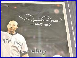 MARIANO RIVERA SIGNED / AUTOGRAPHED 8x10 FRAMED PHOTO HOF 2019 Inscribed JSA (C)
