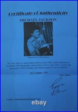 MICHAEL JACKSON Autograph Signed Photo & BAD LP FRAMED GuaranteedToPass PSA COA