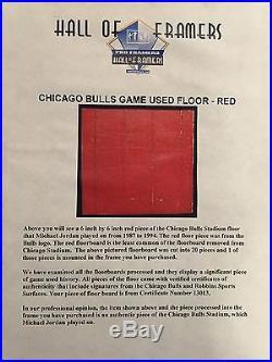 MICHAEL JORDAN SIGNED UDA Upper Deck CHICAGO BULLS FRAMED 8x10 Photo WithFLOOR
