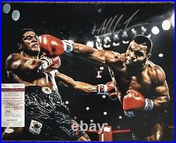MIKE TYSON Autograph Signed Photo 16x20 +29 Fight Boxing Cards FRAMED JSA COA