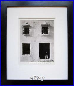 MORLEY BAER Signed 1958 Original Photograph House in Minas, Eyes Closed