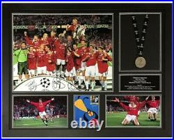 Manchester United Signed Framed 1999 Champions League Final Photograph
