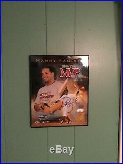 Manny Ramirez Signed Auto Framed 8x10 Boston Red Sox 2004 WS MVP Photo JSA COA