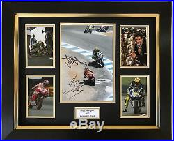 Marc Marquez And Valentino Rossi Hand Signed Framed Photo Display Motogp Proof