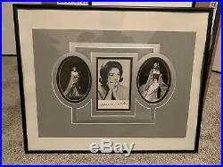 Maria Callas SIGNED 4x6 Photo in Matted Frame OPERA Autograph Very Nice