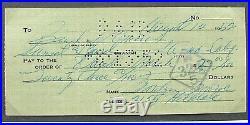 Marilyn Monroe Inscribed and Signed Check & Photo Archivally Framed 1952 PSA COA