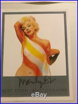 Marilyn Monroe Original Photograph Bert Stern printed 1979