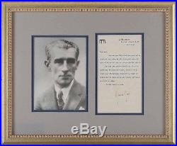 Maurice RAVEL (Composer) Signed Letter to Henry PRUNIERES, framed with Photo