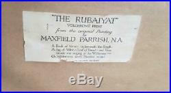 Maxfield Parrish Original large 1917 Rubaiyat Art Print Cut Corner Picture Frame