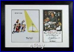 Mel Blanc signed card Speechless photo New Frame 21 x 15 Warner Bros