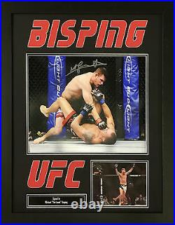 Michael Bisping Signed Framed Photo Ufc Champion Ultimate Fighter Coa & Proof